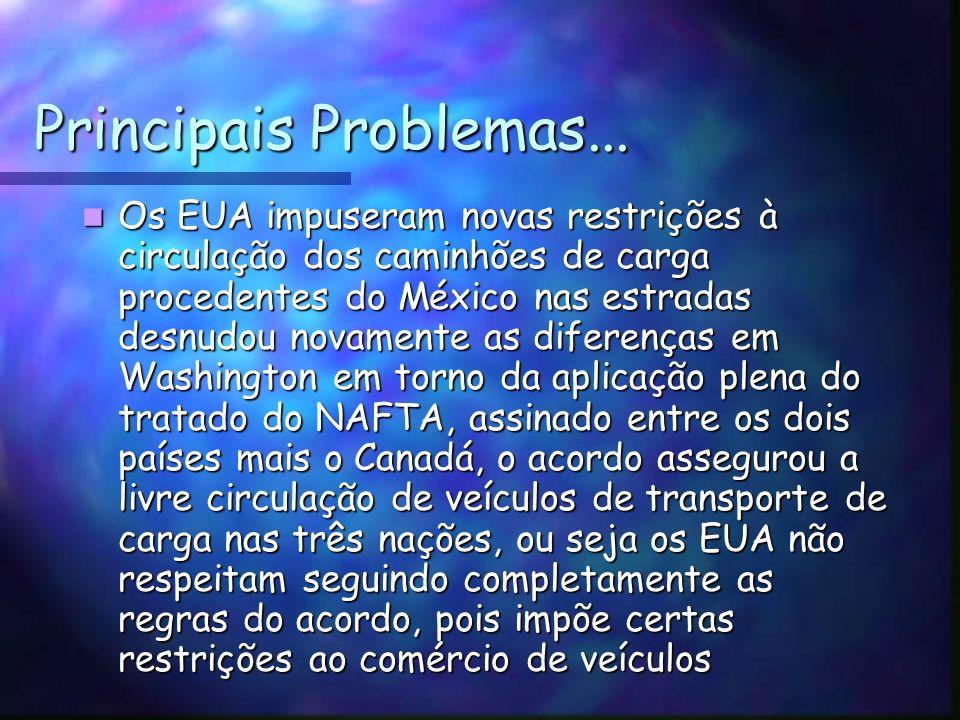 Principais Problemas...