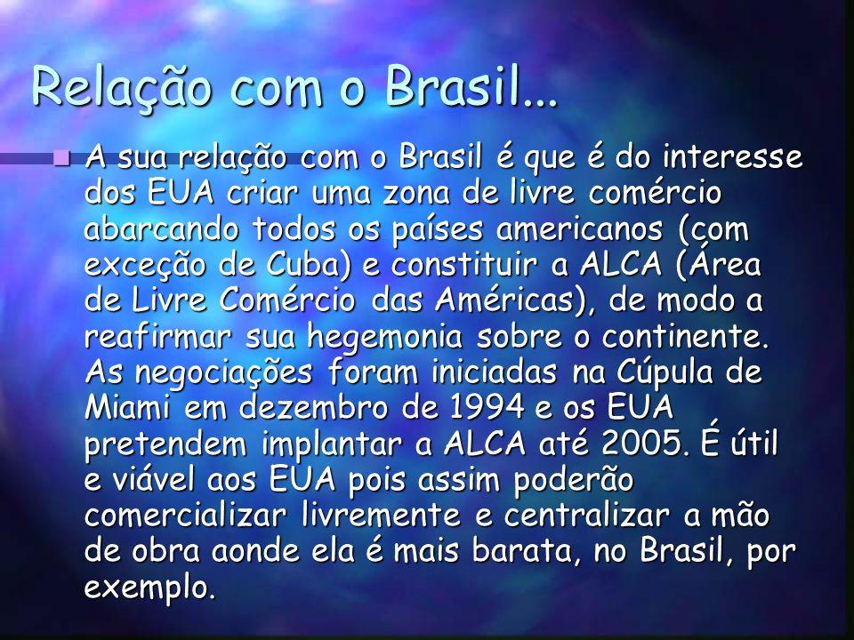 Relação com o Brasil...