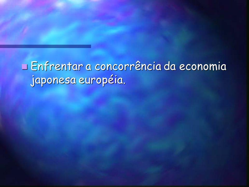 Enfrentar a concorrência da economia japonesa européia.