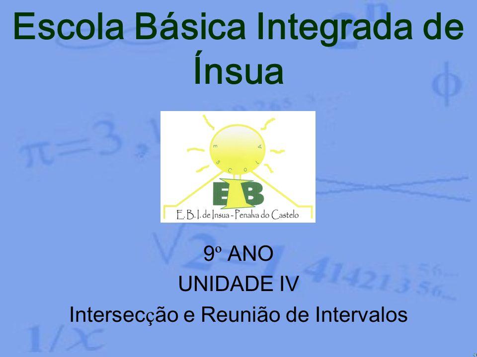9º ANO UNIDADE IV Intersecção e Reunião de Intervalos