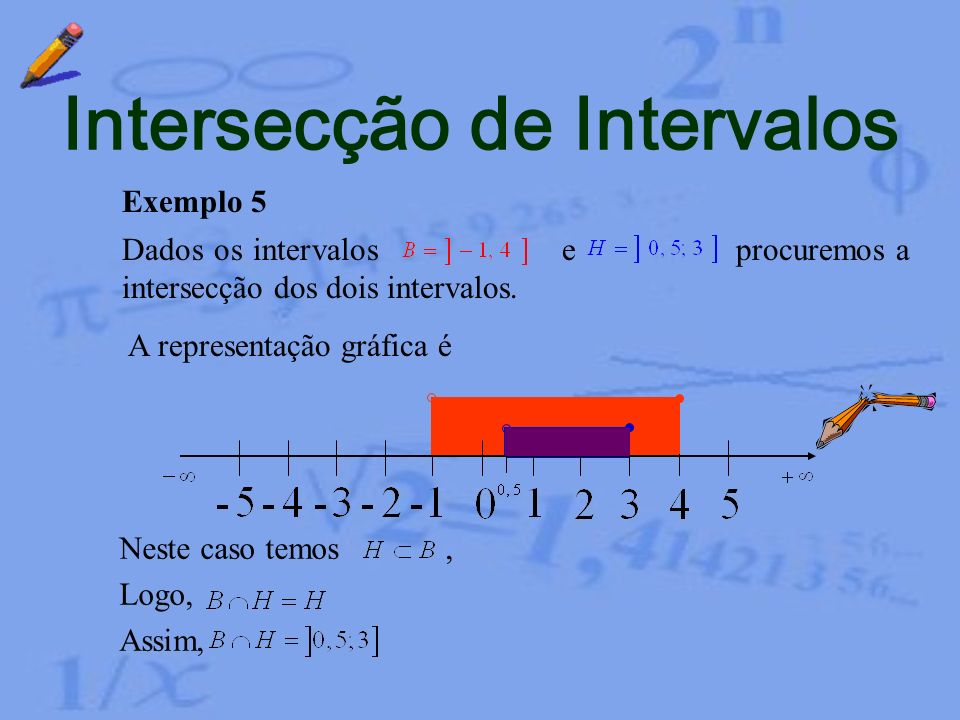 Intersecção de Intervalos