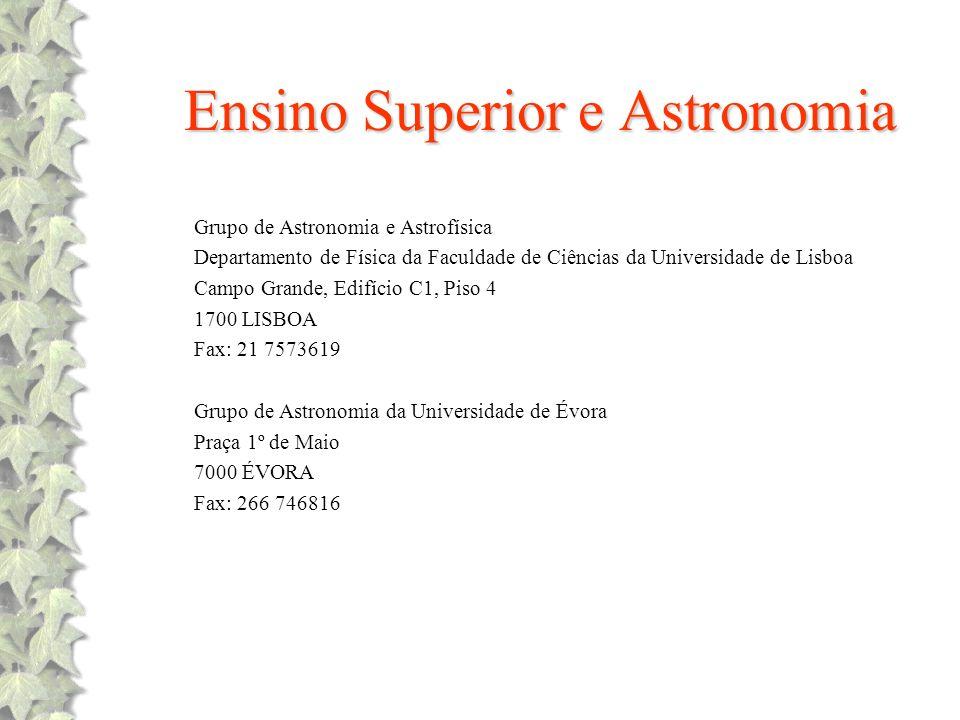 Ensino Superior e Astronomia