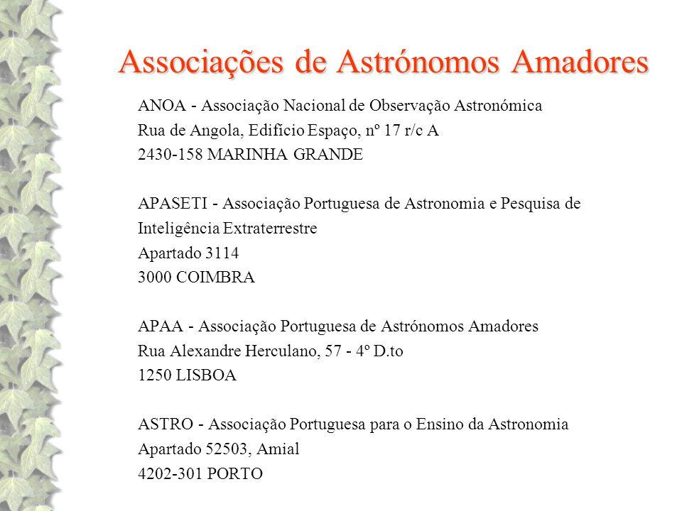 Associações de Astrónomos Amadores