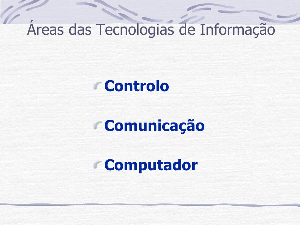 Áreas das Tecnologias de Informação
