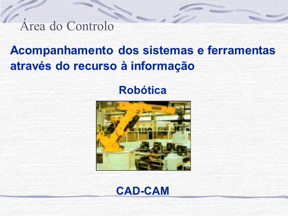 Área do Controlo Acompanhamento dos sistemas e ferramentas através do recurso à informação. Robótica.