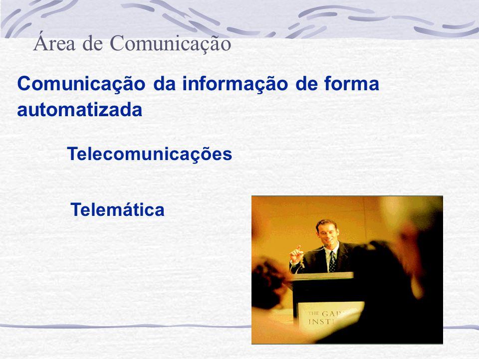 Área de Comunicação Comunicação da informação de forma automatizada