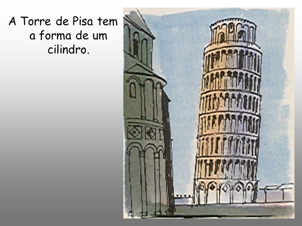 A Torre de Pisa tem a forma de um cilindro.