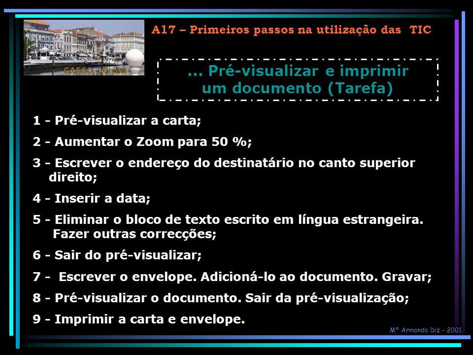 ... Pré-visualizar e imprimir um documento (Tarefa)