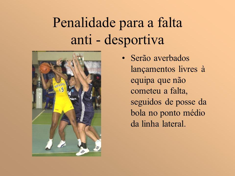 Penalidade para a falta anti - desportiva