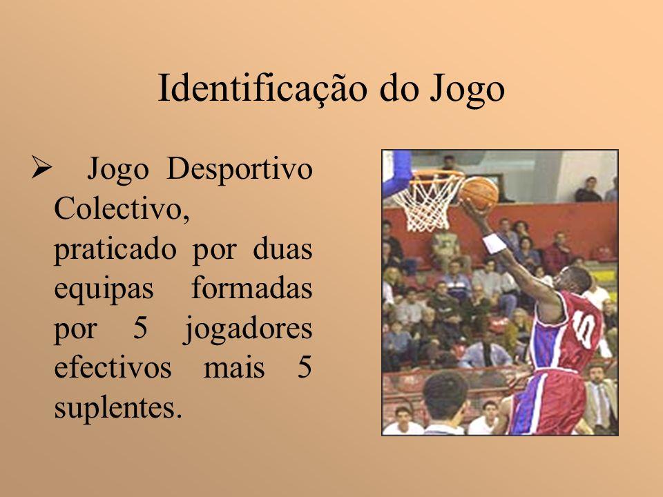 Identificação do Jogo Jogo Desportivo Colectivo, praticado por duas equipas formadas por 5 jogadores efectivos mais 5 suplentes.