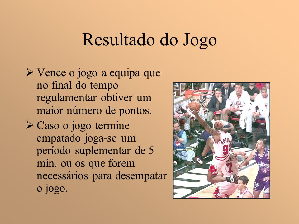Resultado do Jogo Vence o jogo a equipa que no final do tempo regulamentar obtiver um maior número de pontos.