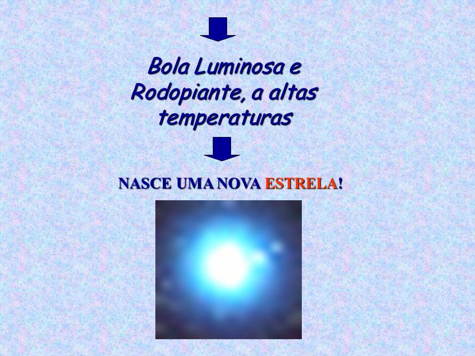 Bola Luminosa e Rodopiante, a altas temperaturas