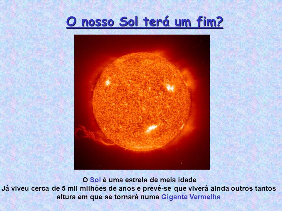 O nosso Sol terá um fim O Sol é uma estrela de meia idade