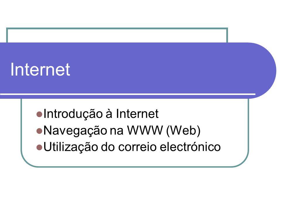 Internet Introdução à Internet Navegação na WWW (Web)