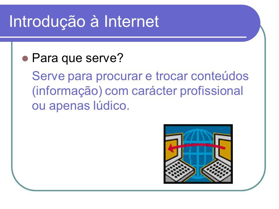 Introdução à Internet Para que serve