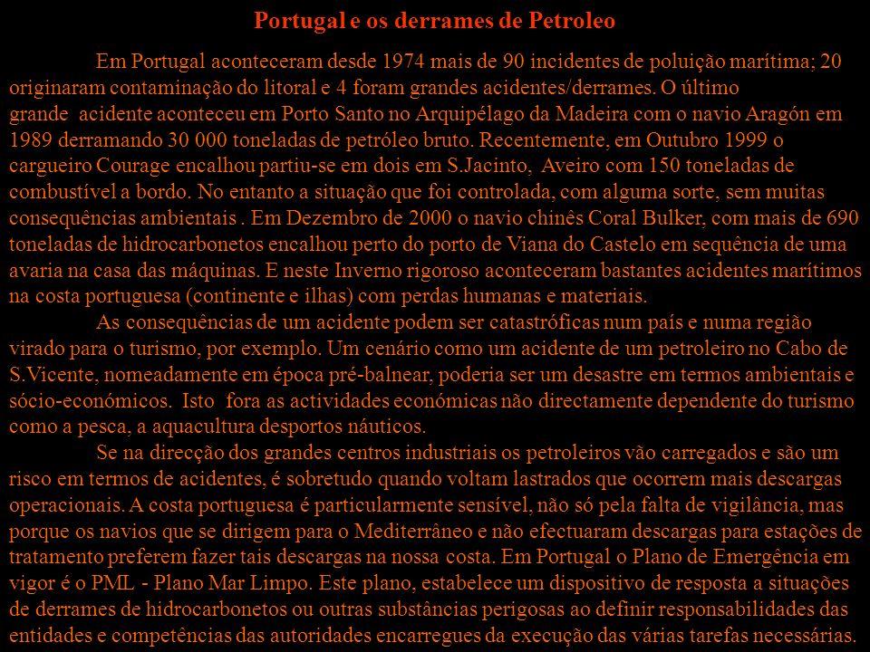 Portugal e os derrames de Petroleo