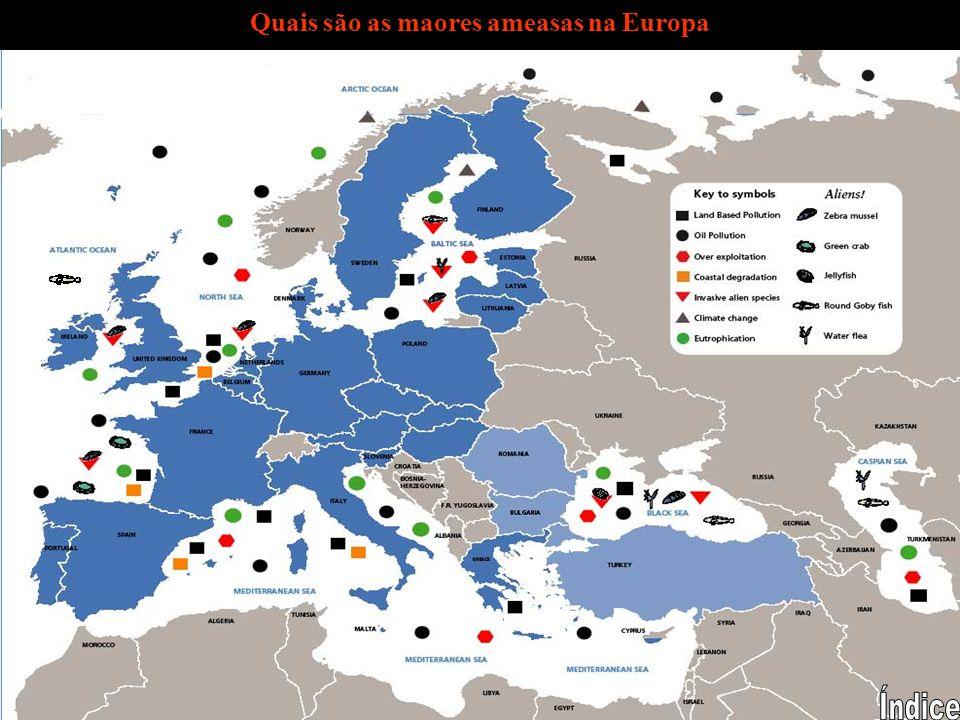 Quais são as maores ameasas na Europa