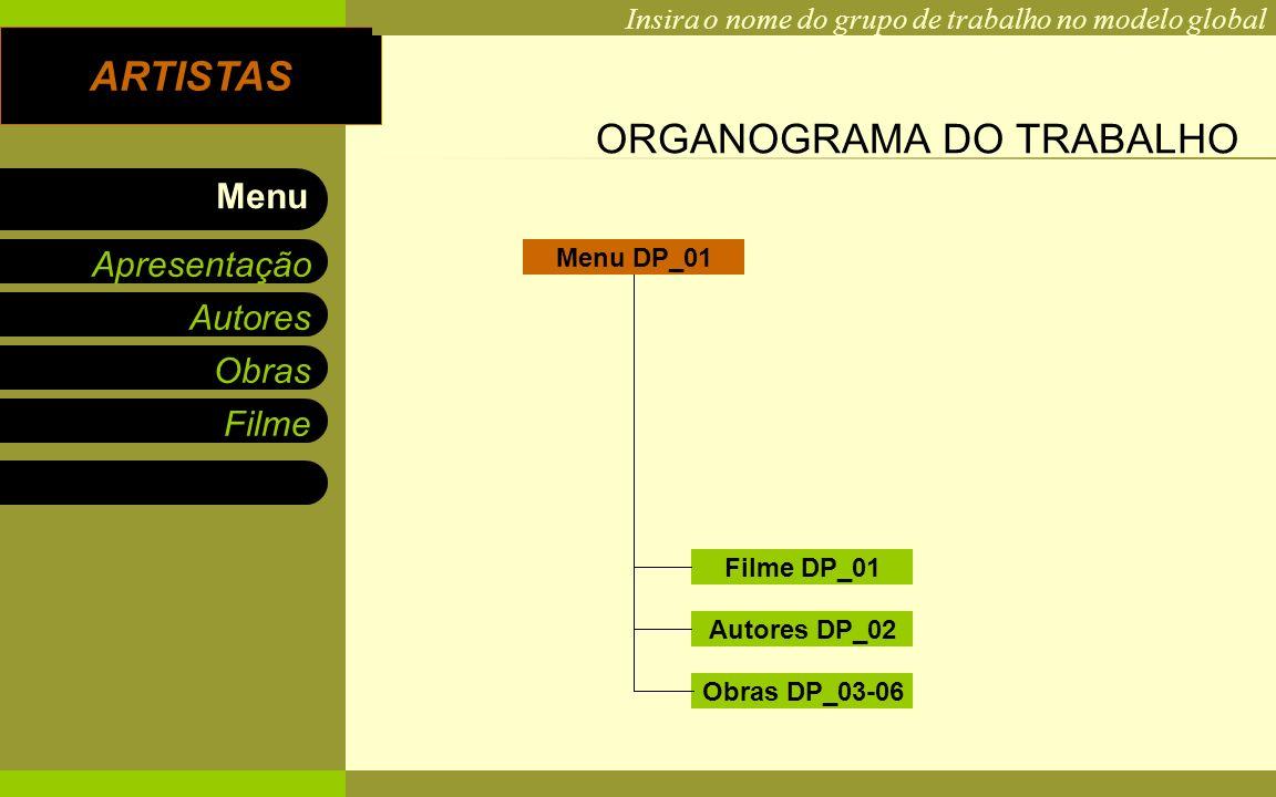 ORGANOGRAMA DO TRABALHO