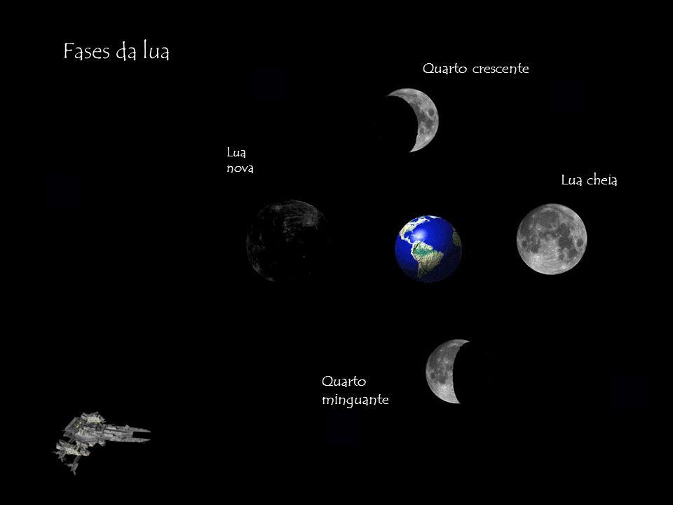 Fases da lua Quarto crescente Lua nova Lua cheia Quarto minguante