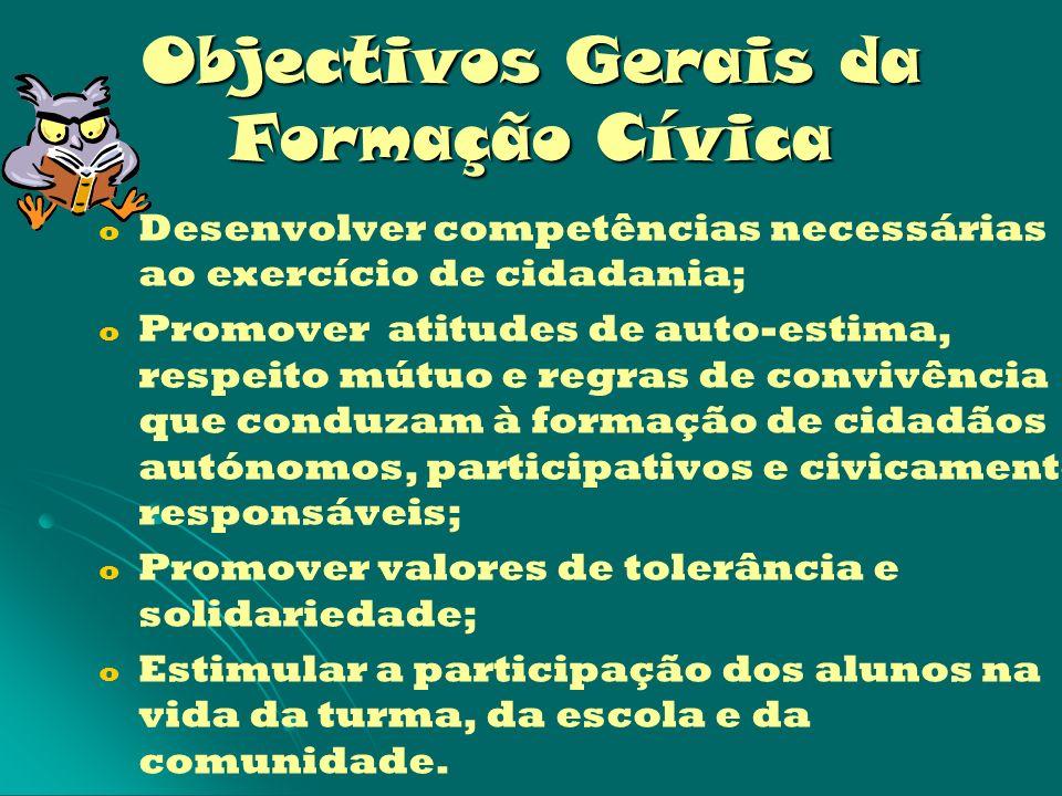 Objectivos Gerais da Formação Cívica