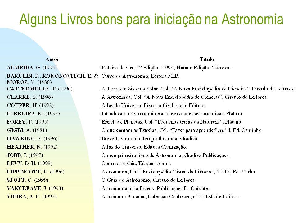 Alguns Livros bons para iniciação na Astronomia