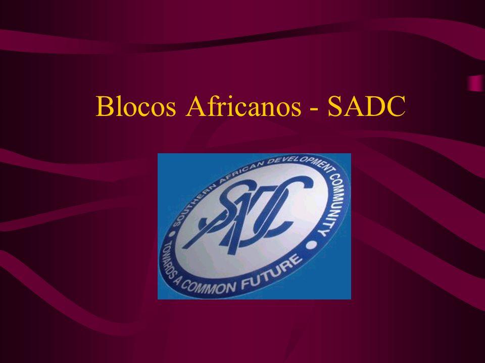 Blocos Africanos - SADC