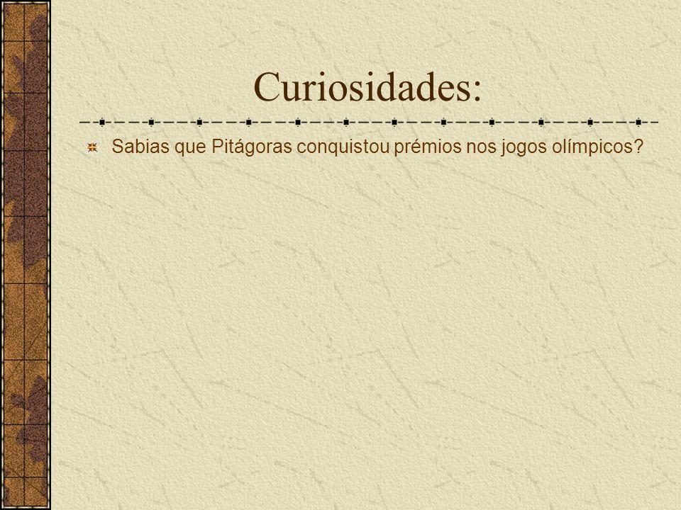 Curiosidades: Sabias que Pitágoras conquistou prémios nos jogos olímpicos