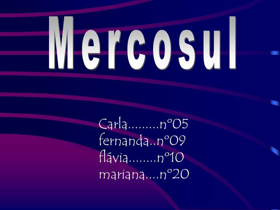 Mercosul Carla.........nº05 fernanda..nº09 flávia........nº10