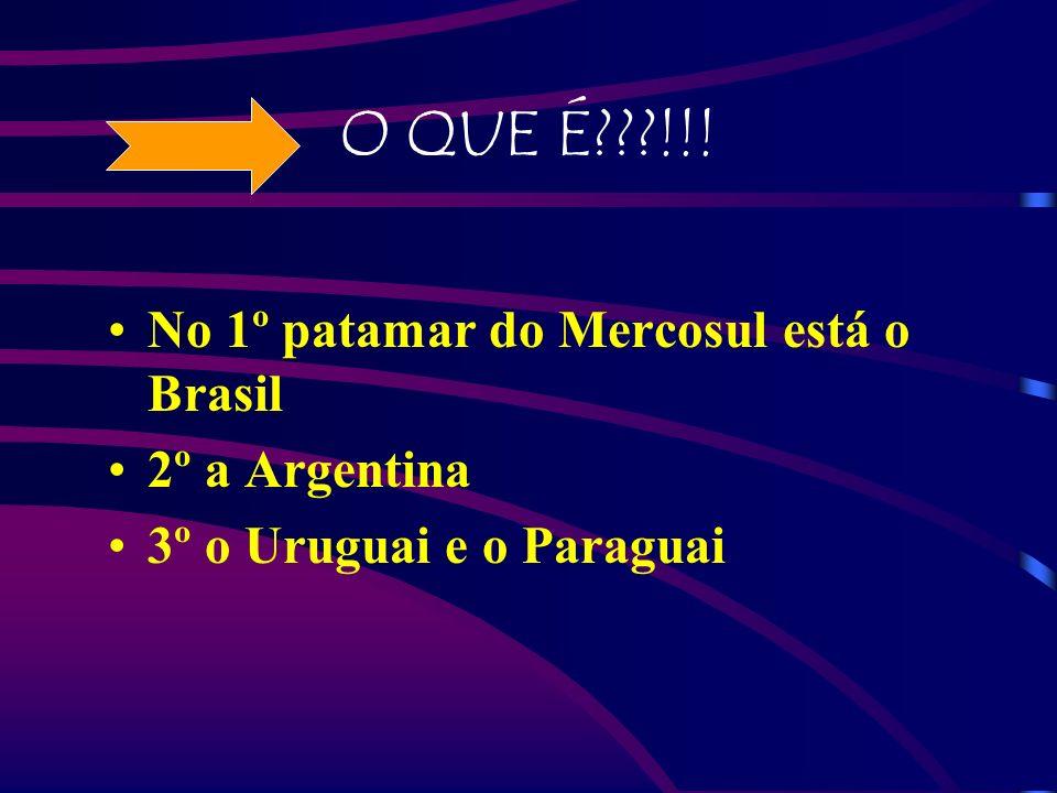 O QUE É !!! No 1º patamar do Mercosul está o Brasil 2º a Argentina