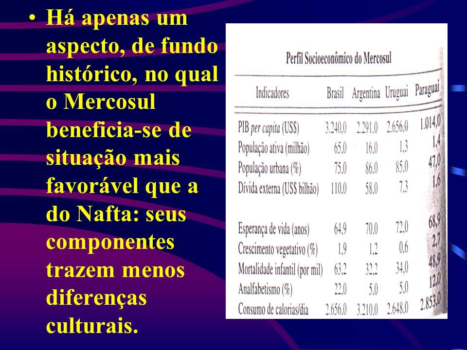 Há apenas um aspecto, de fundo histórico, no qual o Mercosul beneficia-se de situação mais favorável que a do Nafta: seus componentes trazem menos diferenças culturais.