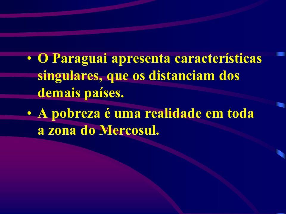 O Paraguai apresenta características singulares, que os distanciam dos demais países.