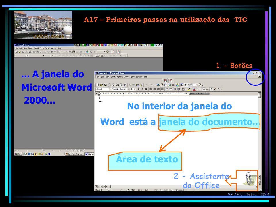 ... A janela do Microsoft Word 2000... Área de texto