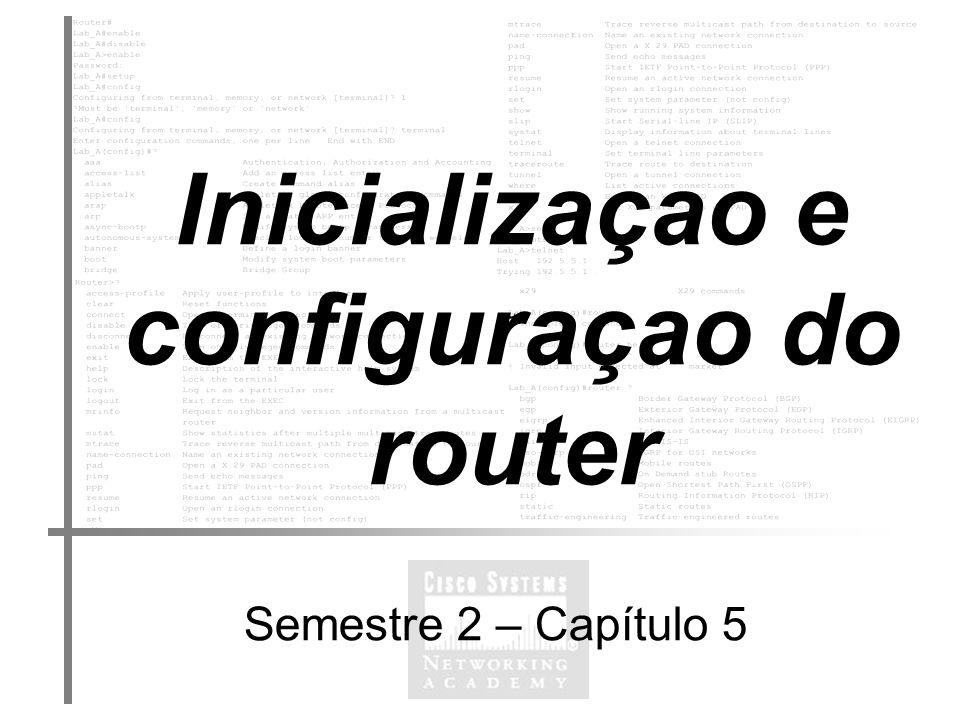 Inicializaçao e configuraçao do router