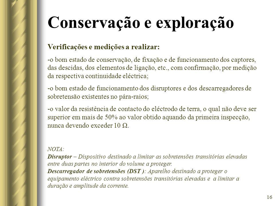 Conservação e exploração