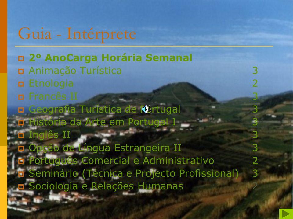 Guia - Intérprete 2º AnoCarga Horária Semanal Animação Turística 3