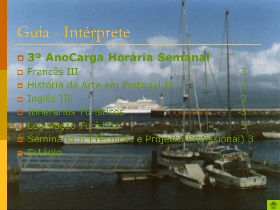 Guia - Intérprete 3º AnoCarga Horária Semanal Francês III 3