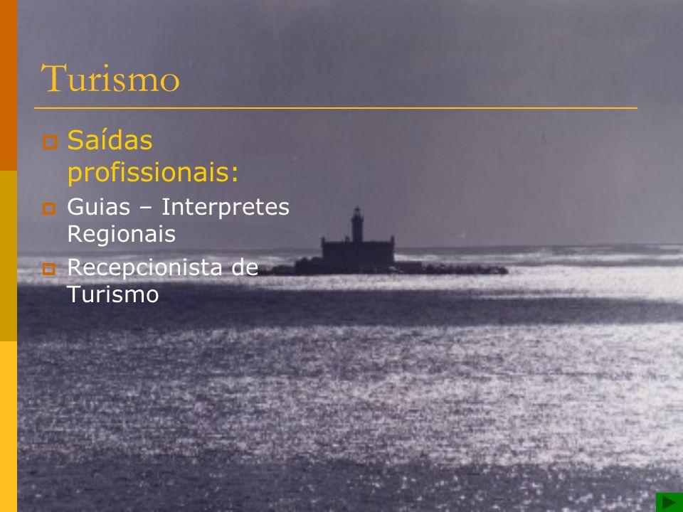 Turismo Saídas profissionais: Guias – Interpretes Regionais