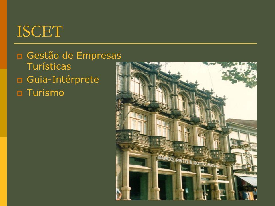 ISCET Gestão de Empresas Turísticas Guia-Intérprete Turismo