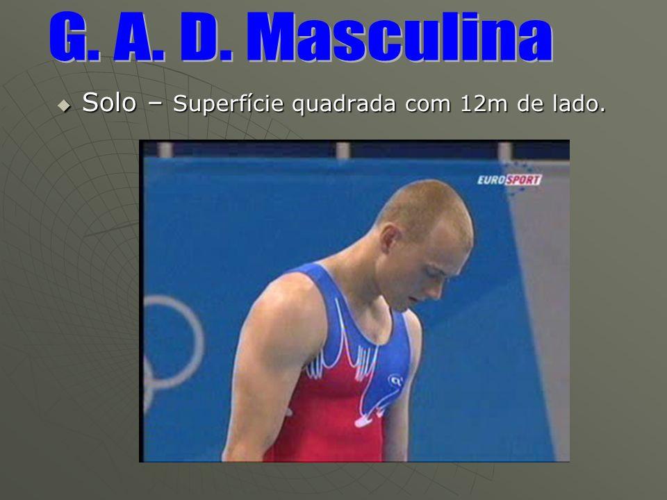 G. A. D. Masculina Solo – Superfície quadrada com 12m de lado.