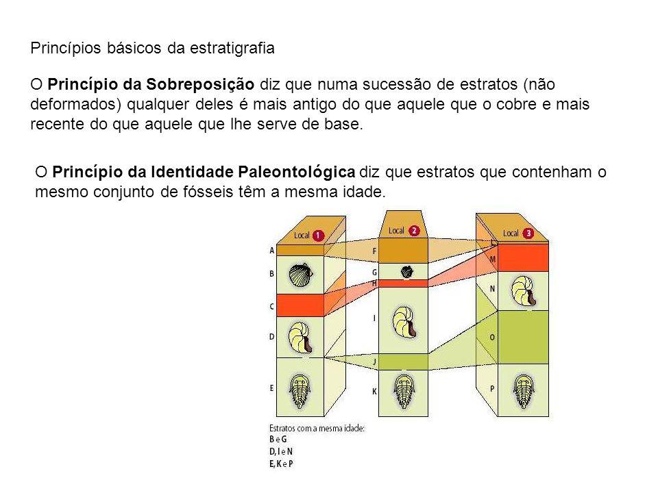 Princípios básicos da estratigrafia