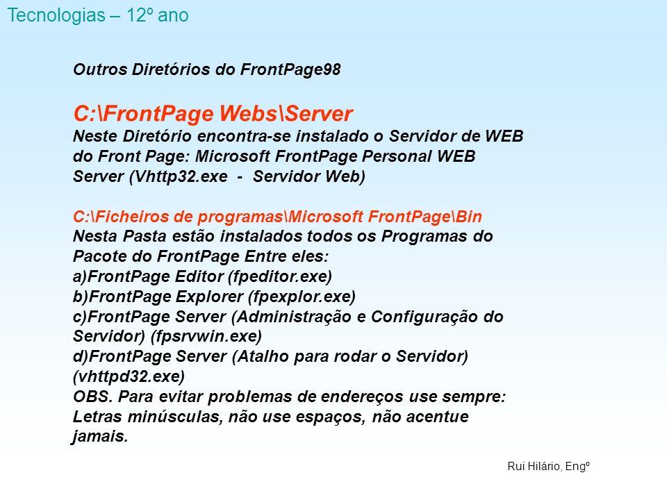 C:\FrontPage Webs\Server