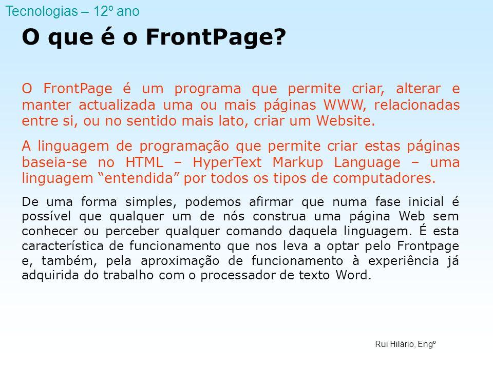 O que é o FrontPage