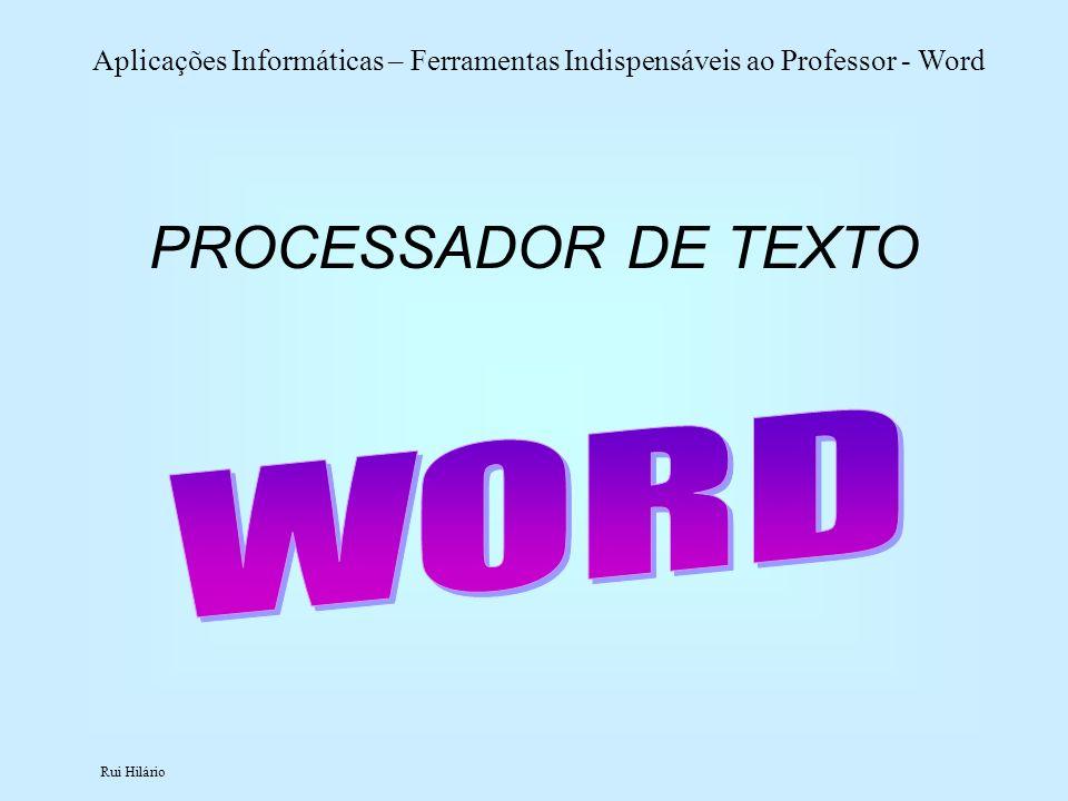 PROCESSADOR DE TEXTO WORD