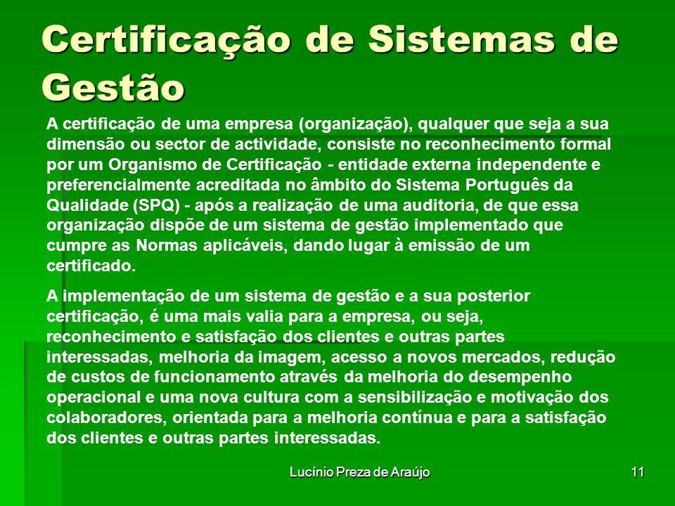 Certificação de Sistemas de Gestão