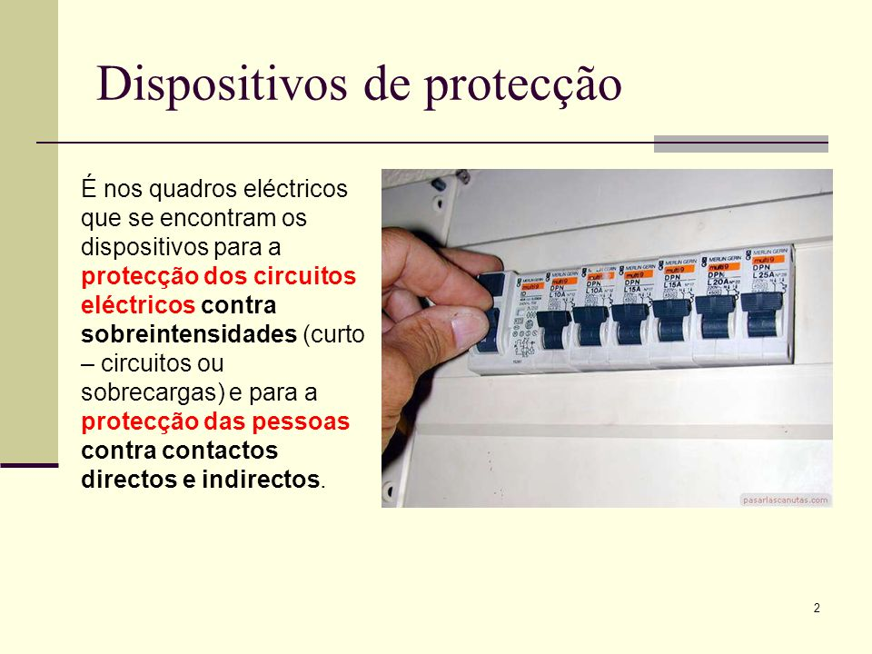 Dispositivos de protecção