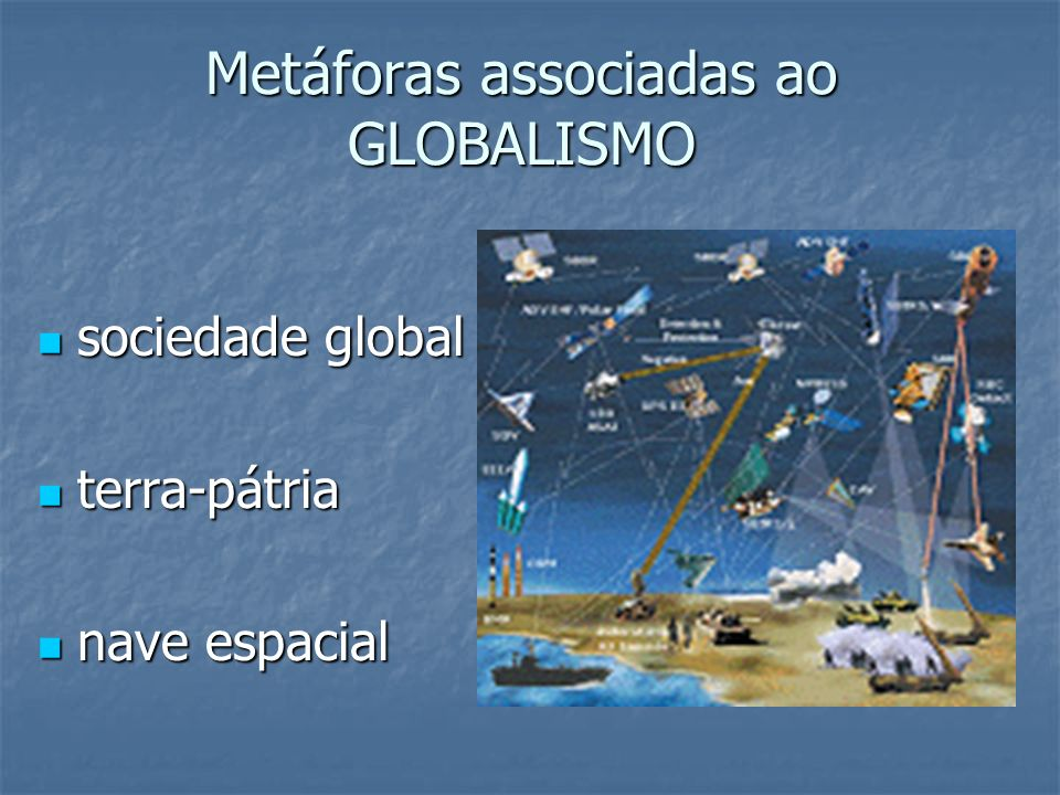 Metáforas associadas ao GLOBALISMO