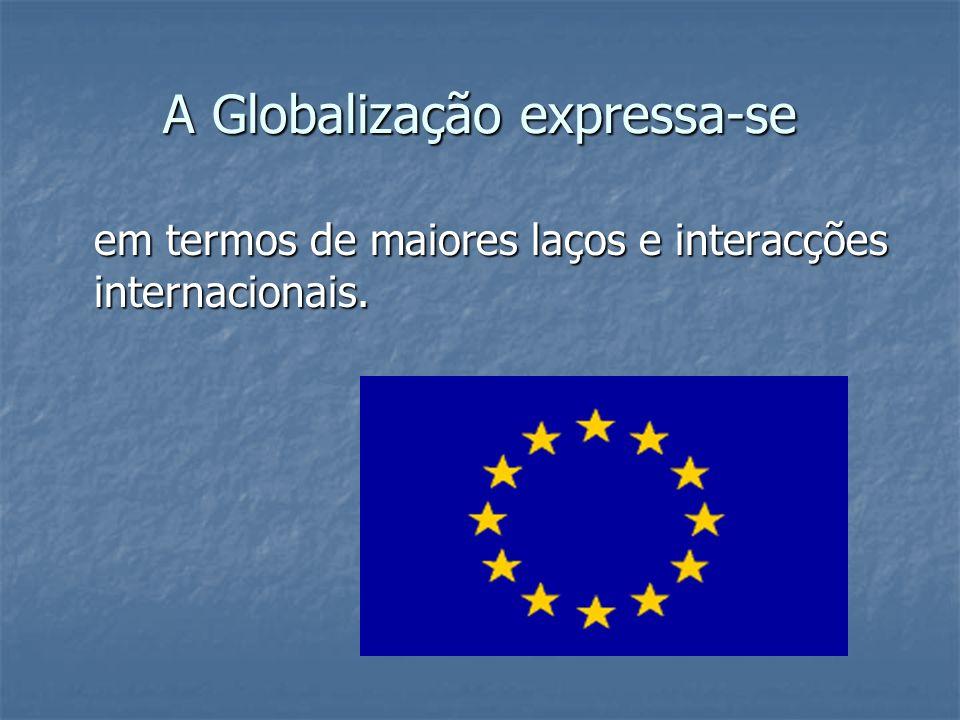 A Globalização expressa-se