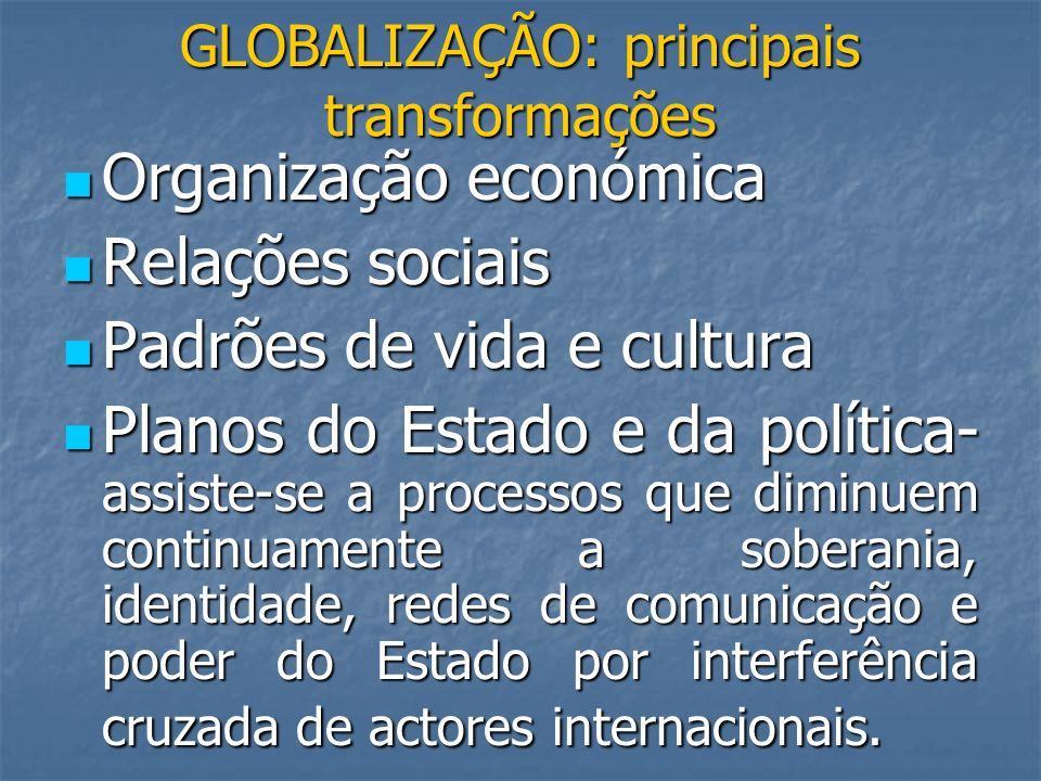 GLOBALIZAÇÃO: principais transformações
