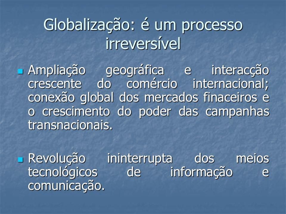 Globalização: é um processo irreversível