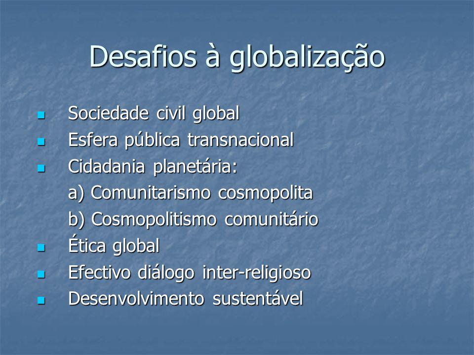 Desafios à globalização